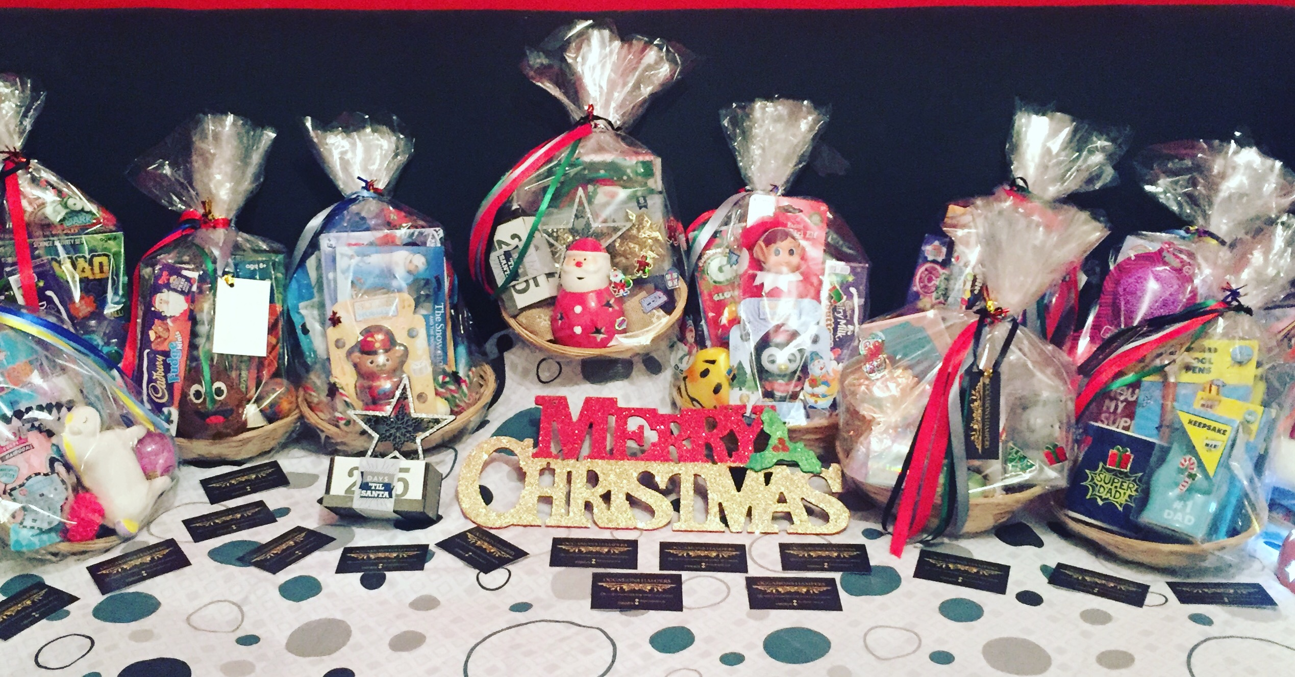 Christmas gift baskets £10