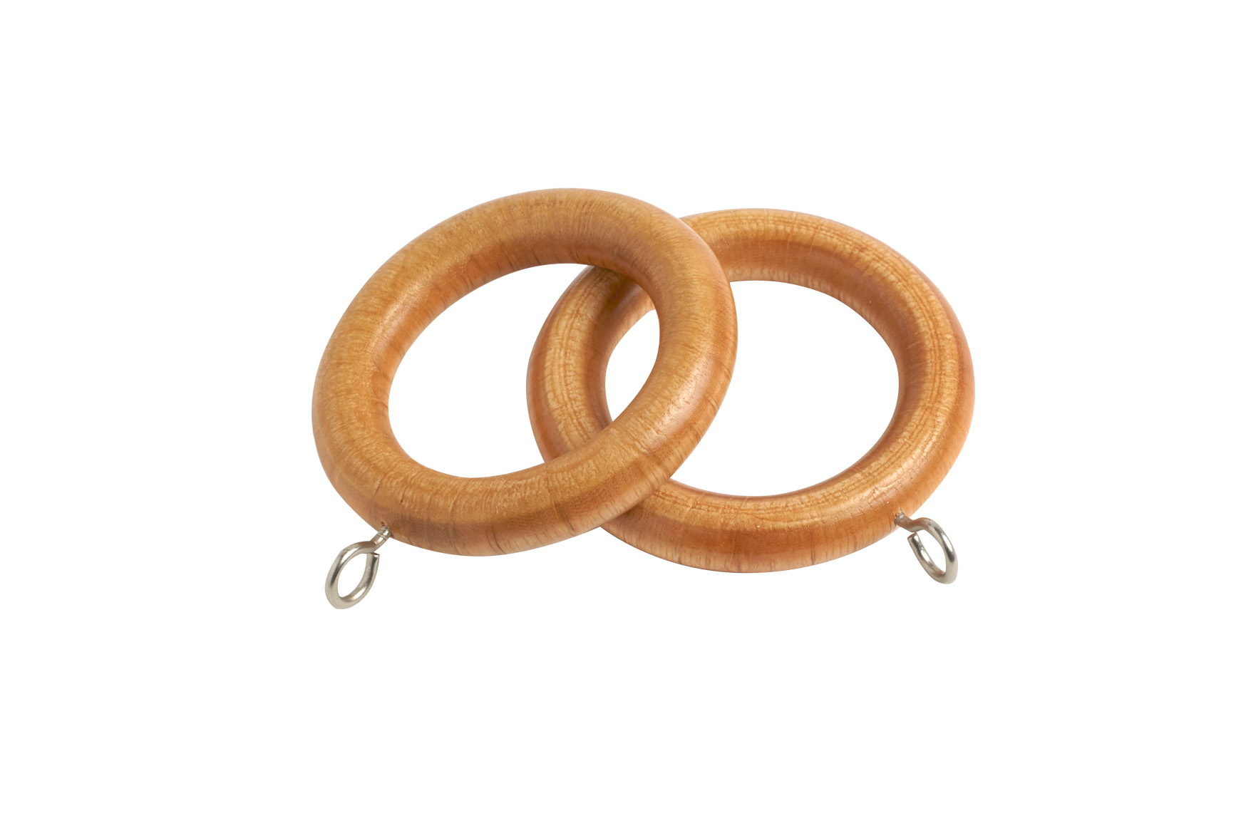 County 28mm  Wooden Curtain Rings Light Ash - 4 Pack