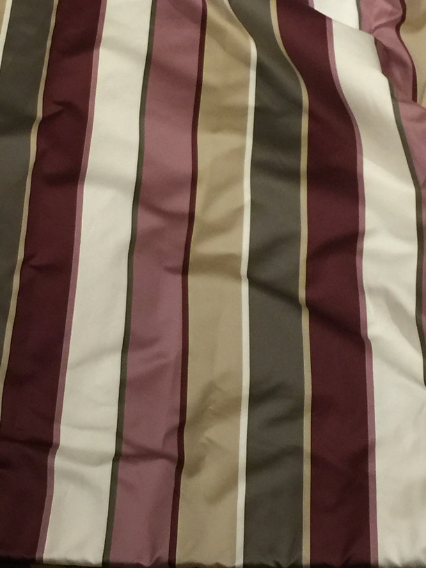 Long striped interlined pencil pleat curtains W193 D276