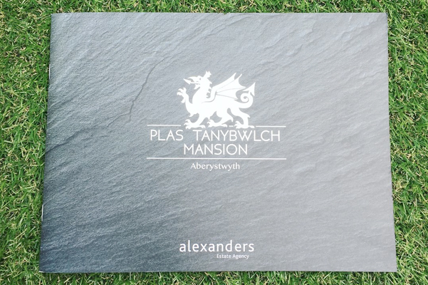 Bespoke Brochure Design for Plas Tanybwlch Mansion.