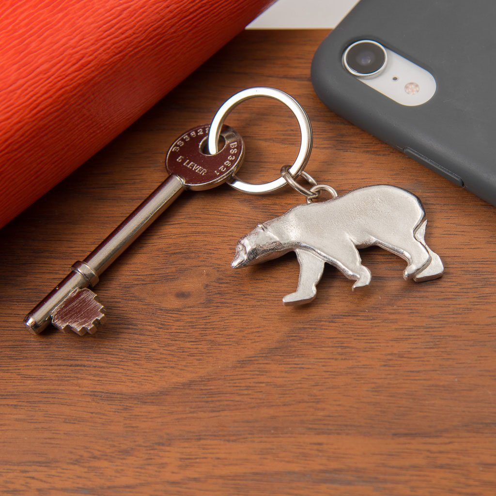 Pewter Key Ring - Polar Bear