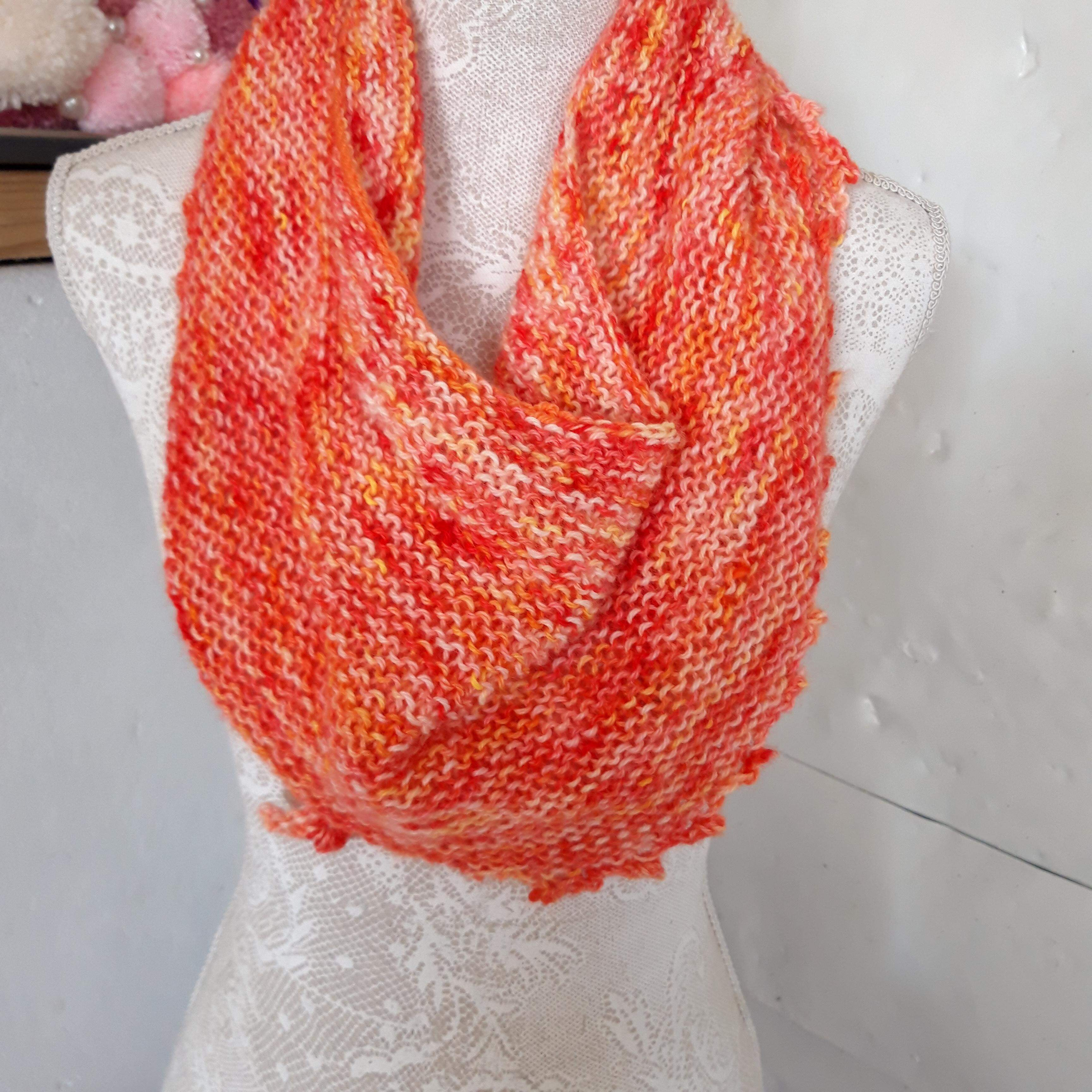 Hand Knitted Scarf 100% Alpaca