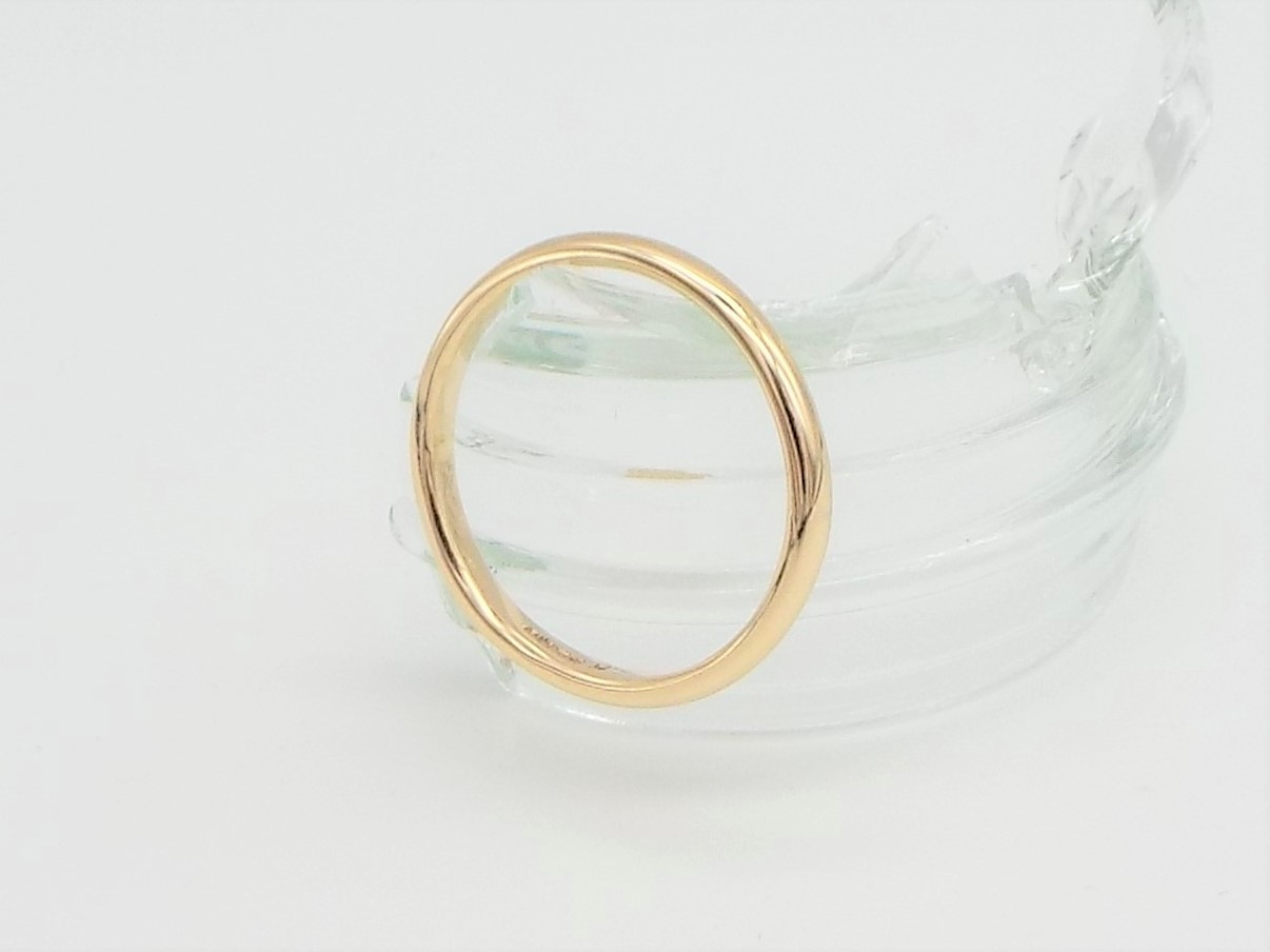 9ct Gold Wedding ring 2mm wide D Shaped - Smooth Polished