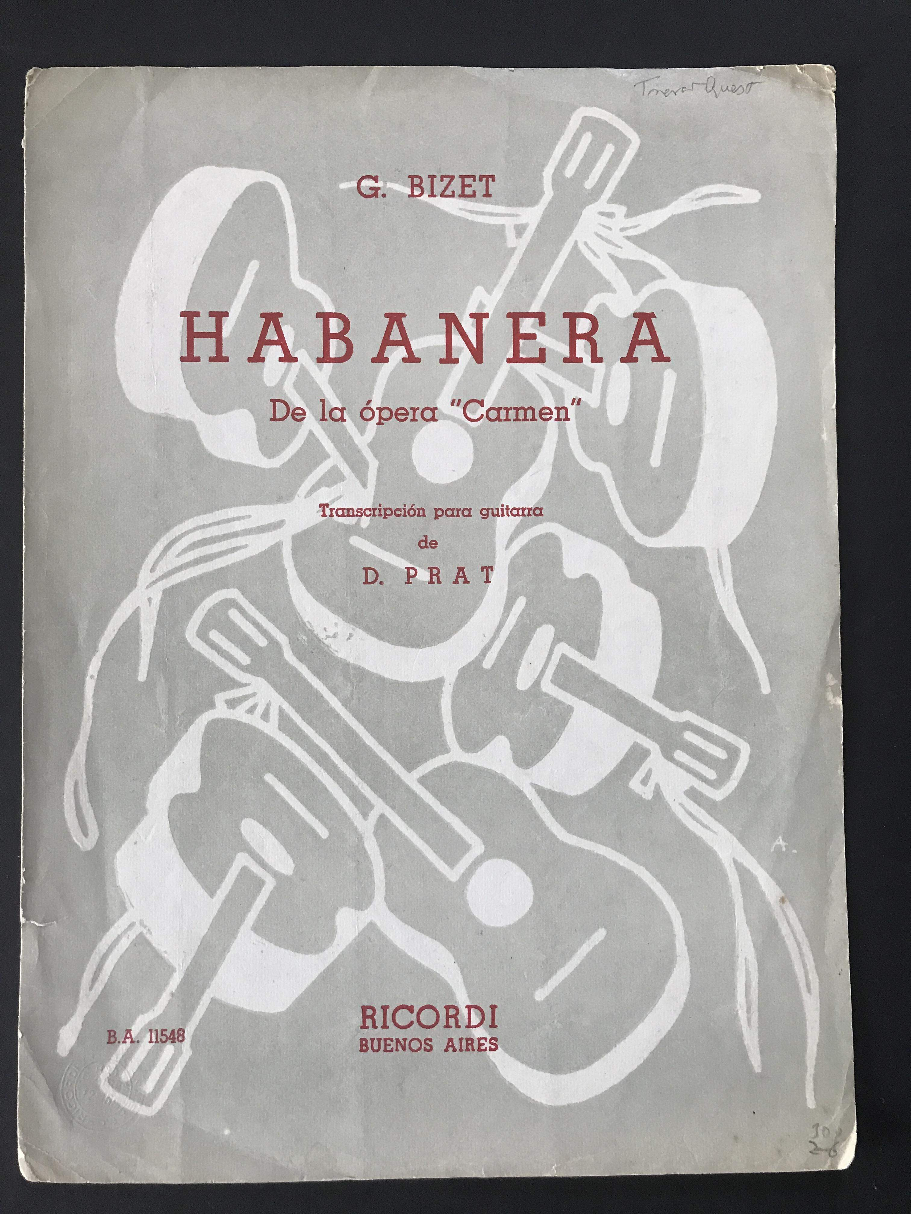 Habanera from Carmen (for guitar) by Bizet