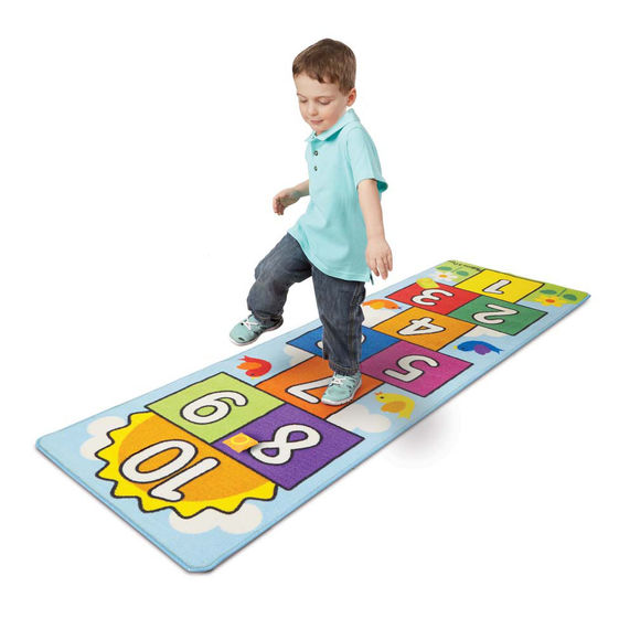 Melissa & Doug Hop and Count Hopscotch Rug