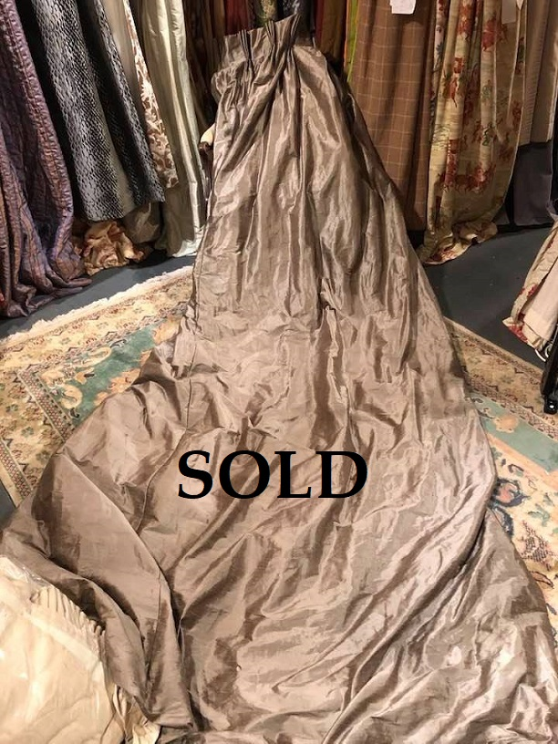 Long Mink Silk Pinch Pleat Interlined Curtains W202 D334