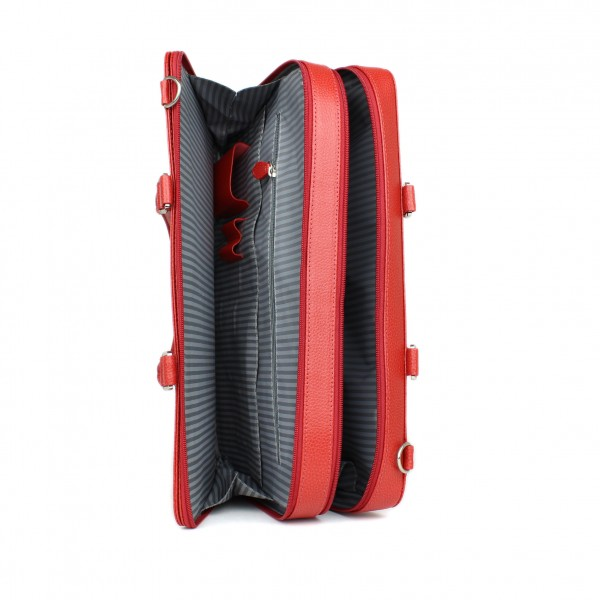 Laptop Briefcase in Red by Laurige