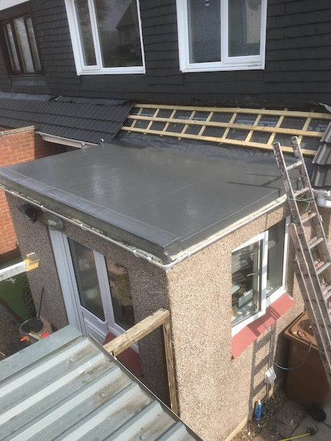 GRP fibreglass roofing installed by DC Roof Care in Kilwinning, Kilmarnock, Ayr, Irvine, Troon, Largs and other areas of Ayrshire, Scotland