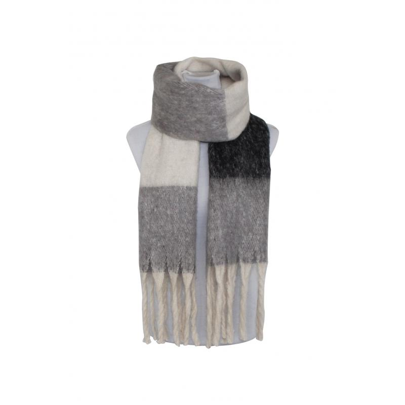 Winter Scarf in Grey Check