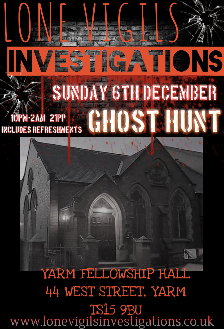 Yarm Fellowship Hall Sunday 6th December  2020 10pm-2am