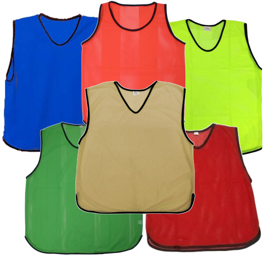 ADULT FOOTBALL TRAINING BIBS  FOOTBALL NETBALL RUGBY HOCKEY CRICKET
