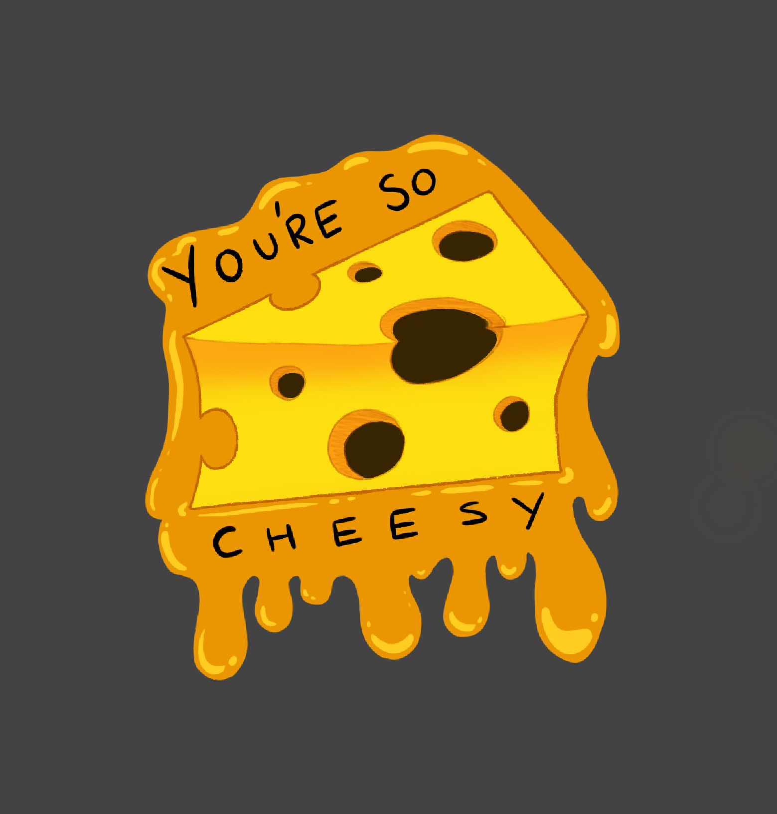 So Cheesy A4 Print