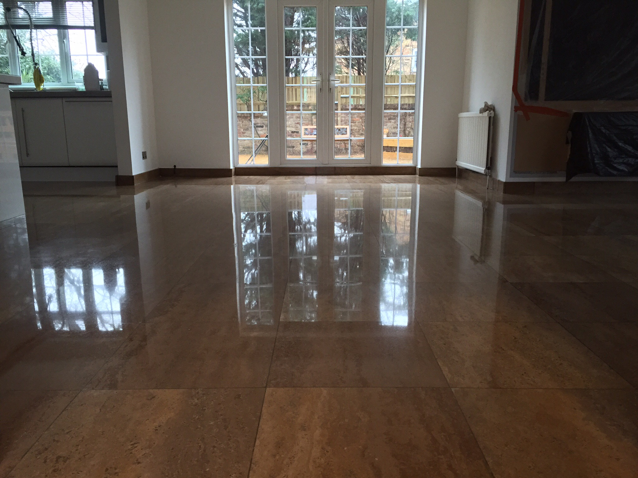 Travertine Restoration & Diamond Polishing