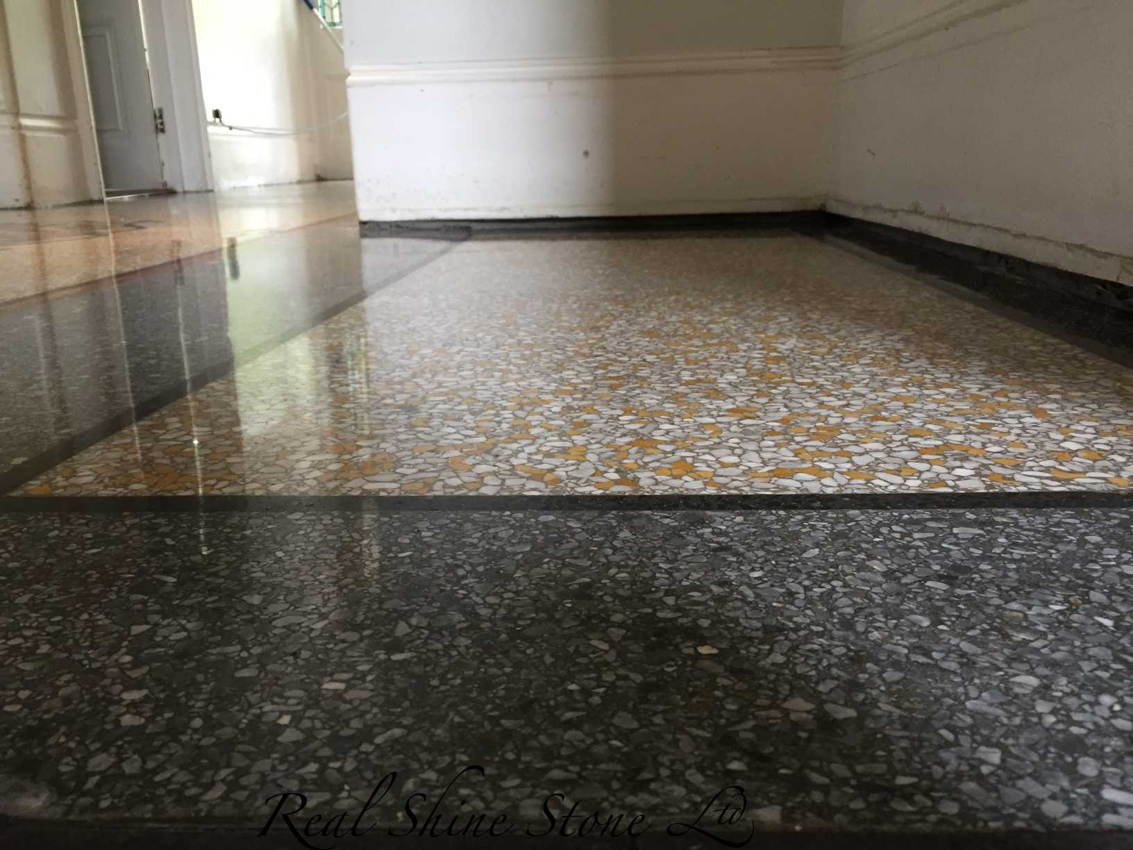 Terrazzo floor levelling - picture after