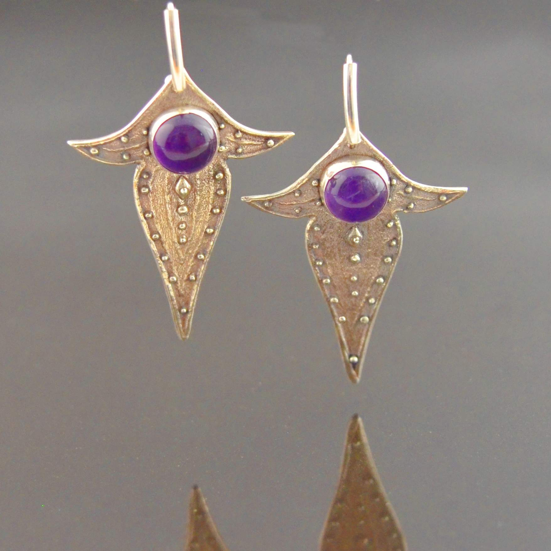 Moorish Stone Set Earrings by Tracey Spurgin of Craftworx Jewellery Workshops