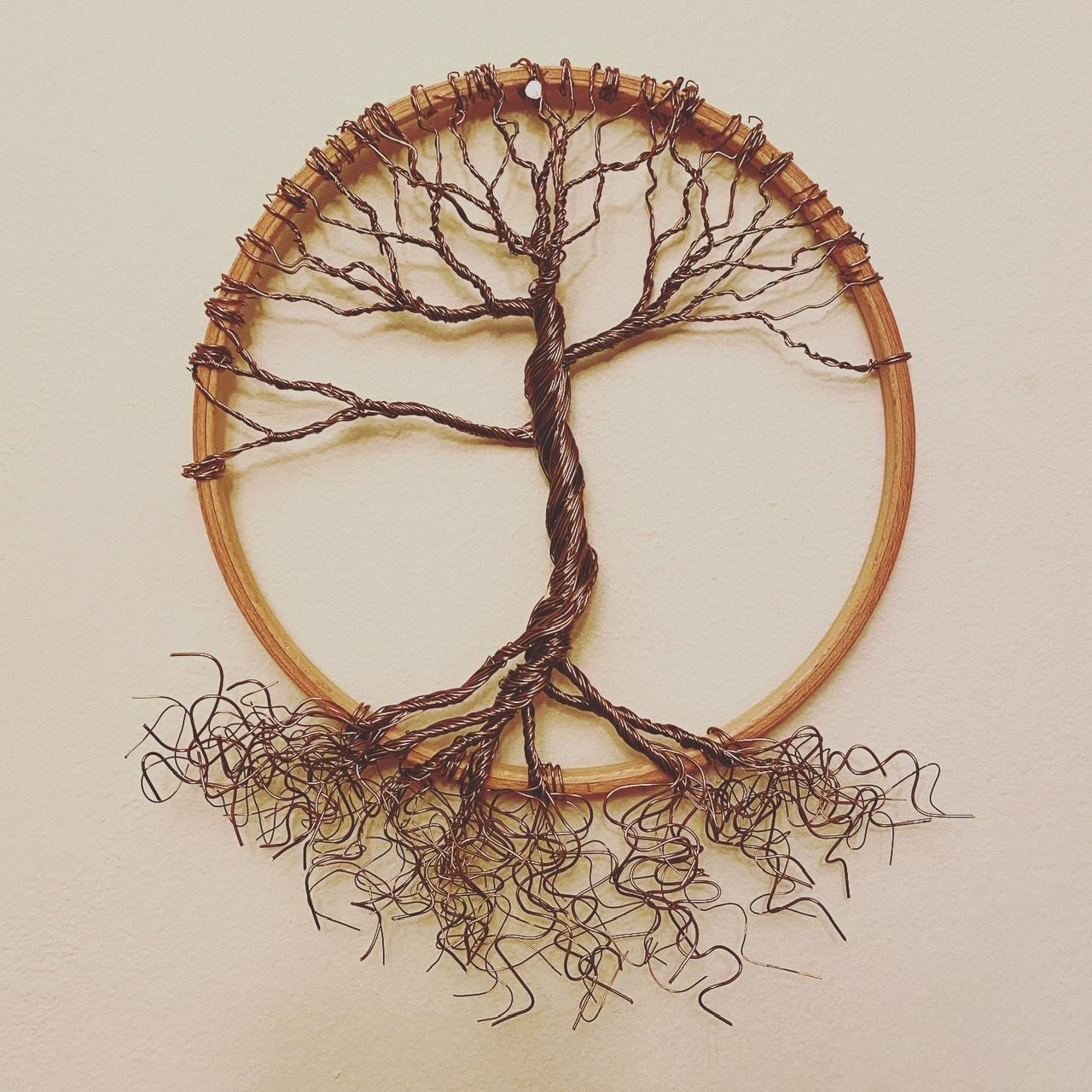 Antique bronze winter tree of life