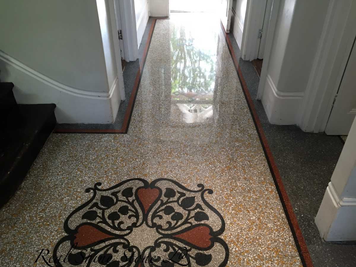 Terrazzo vitrification mirror look finish