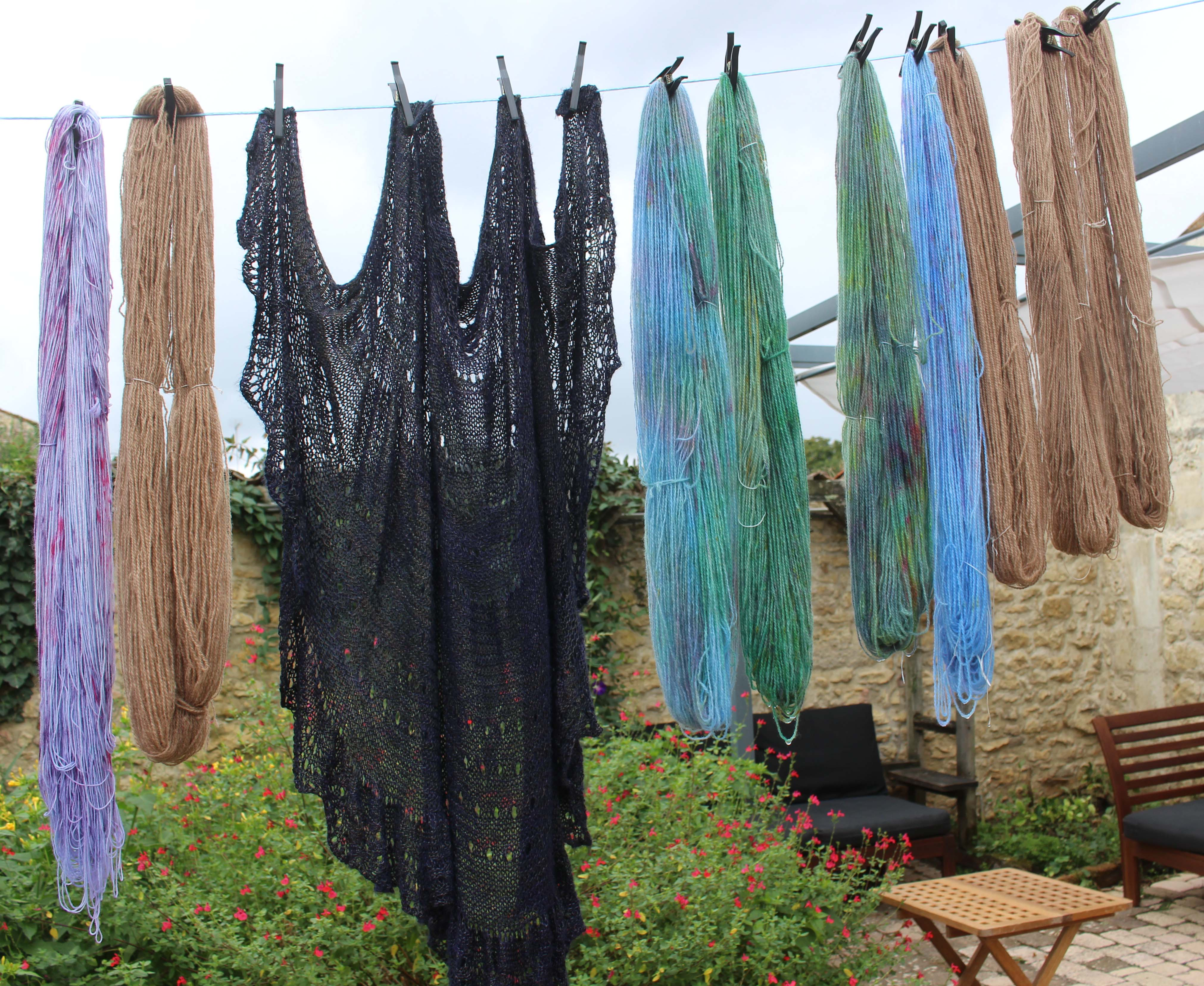 September 2019 knitting retreat - yarn dyeing workshop