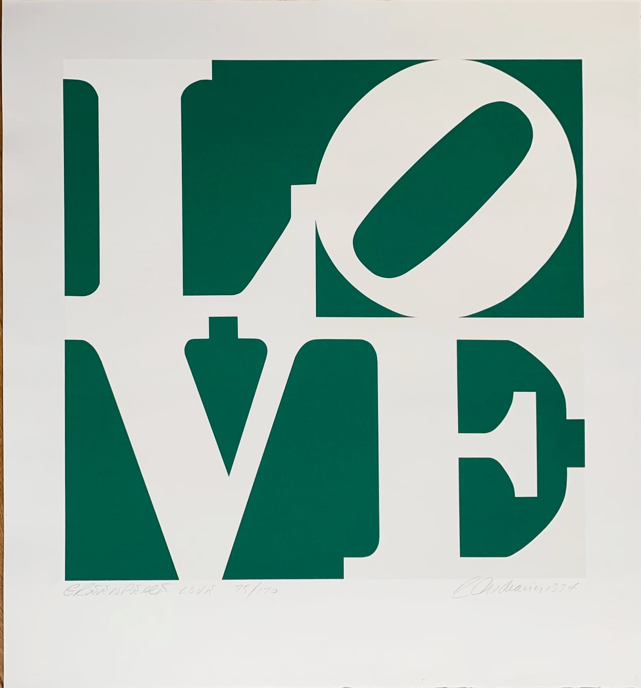 Robert Indiana - Greenpeace LOVE