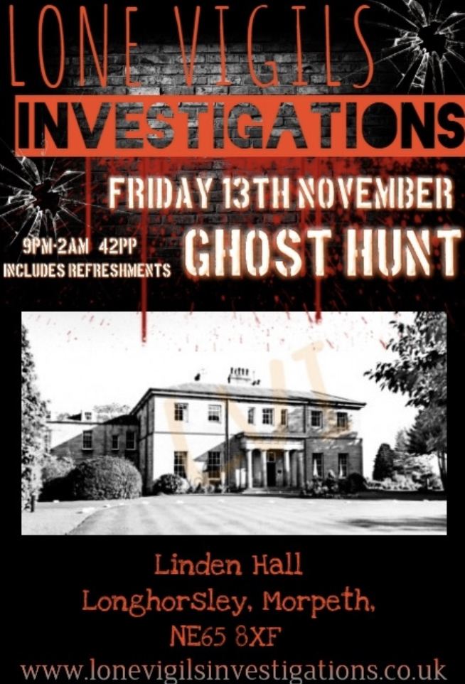SOLD OUT Linden Hall Friday 13th November 9pm-2am