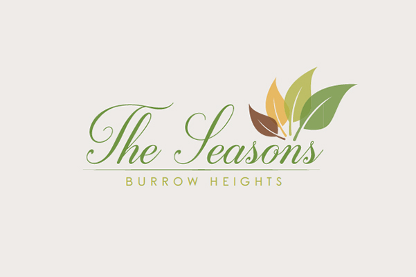 The Seasons in Burrow Heights Logo Design.
