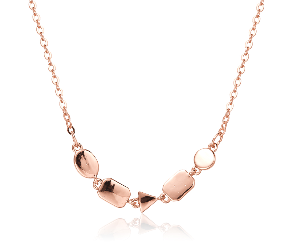 Geo Necklace in Rose Gold - KW006