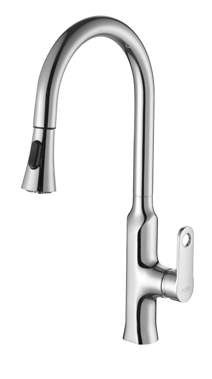 Peking Kitchen Pull Out Kitchen Mixer Tap