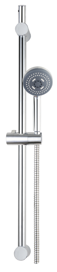 Triple Function Chrome Shower Riser Kit