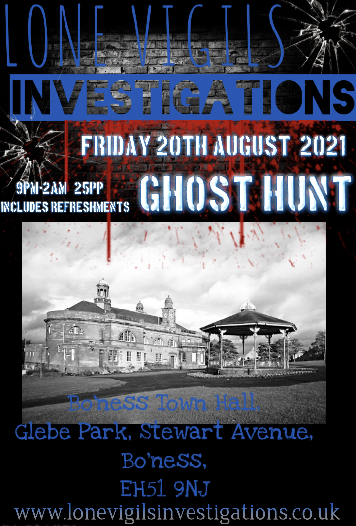 Bo'ness Town Hall Friday 20th August 2021