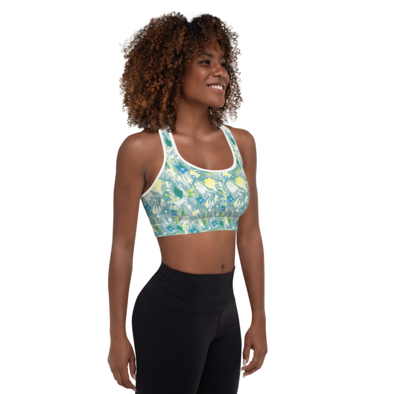 Winter Fruits Padded Sports Bra Top