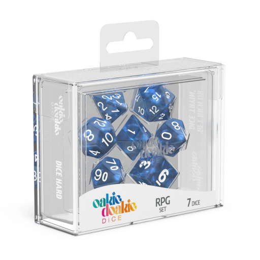 Marble Blue RPG Dice Set