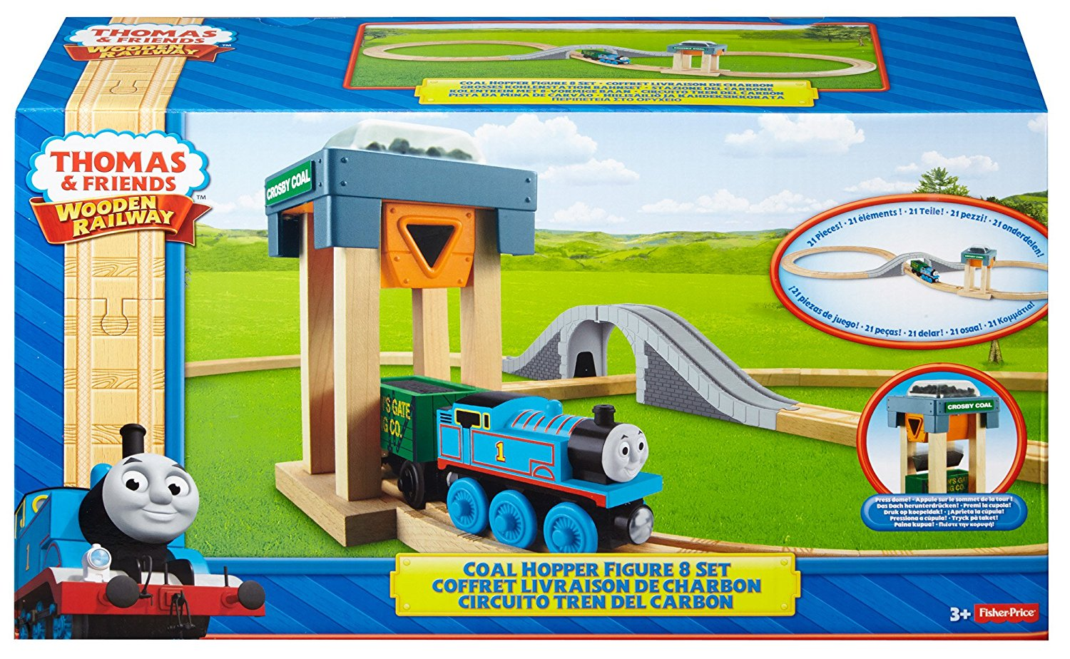 Thomas The Tank Engine Wooden Rail Hopper Figure 8 Set