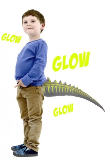 TellTails Wearable Glow Dino Tail for Kids