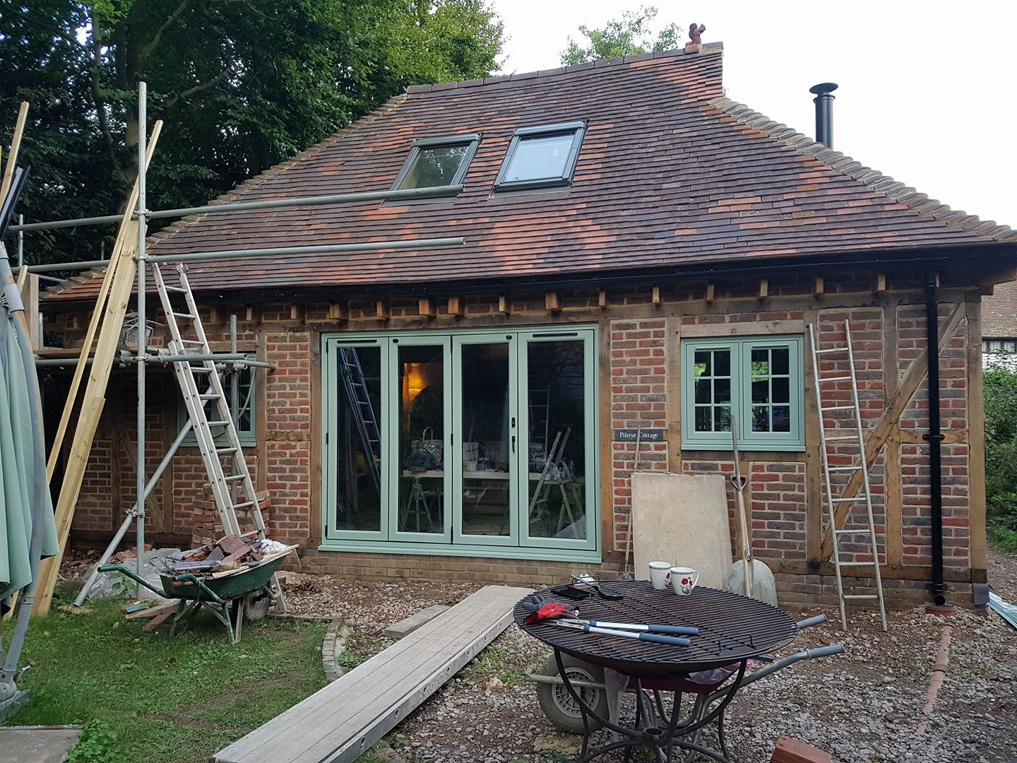 Construction - Oak Frame Extension