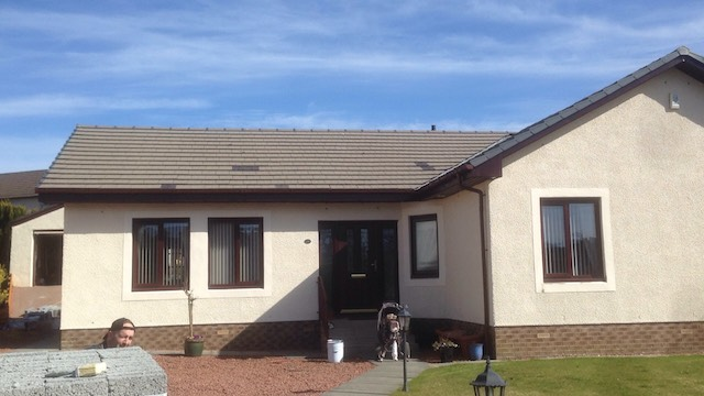 Bungalow in Kilmaurs, Ayrshire, before application of roof sealant coating