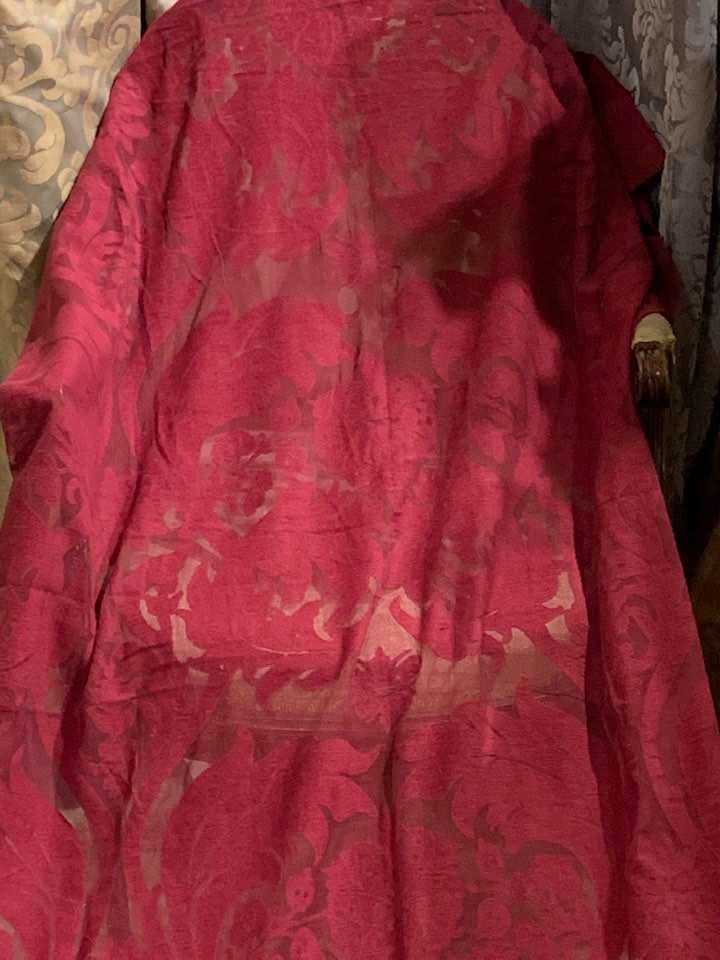 Beautiful Burgundy Mulberry Voiles W117 D295
