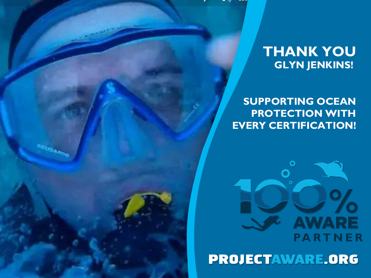 Padi Instructor Glyn Is A 100% AWARE Partner