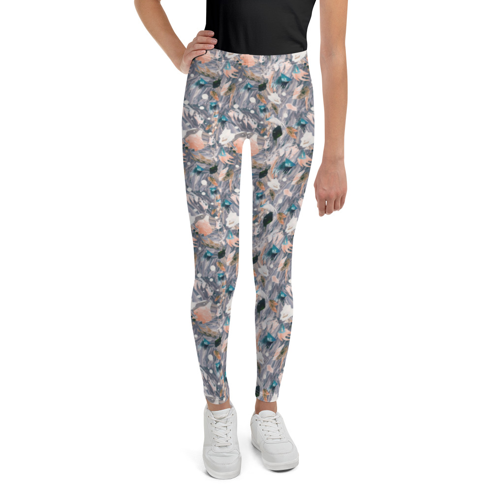 New Kids Active/Dance Leggings Autumn Wave Print.