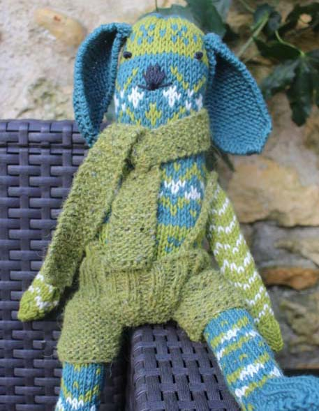 Knitting pattern - fairisle toy bunny
