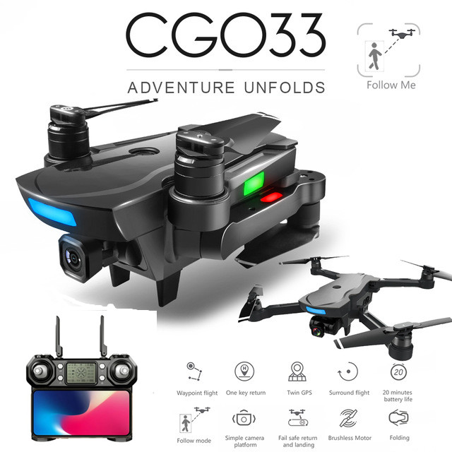 CG033 Brushless FPV Quadcopter with 4K HD Wifi
