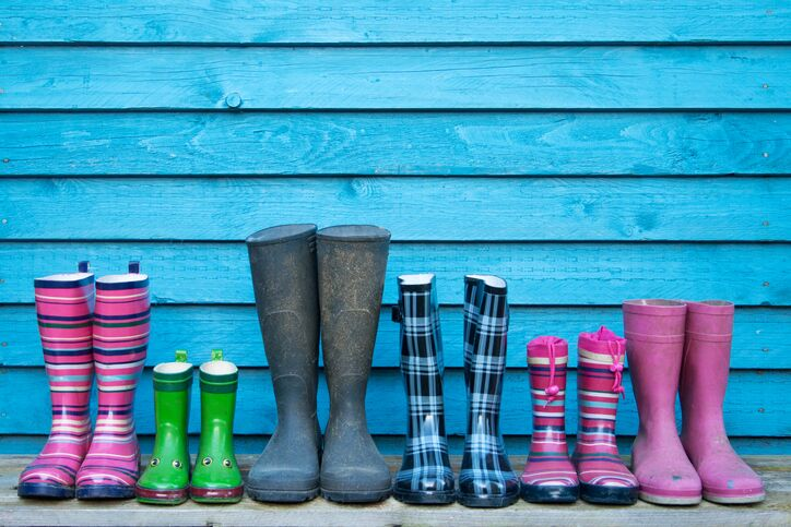 Different sized wellies