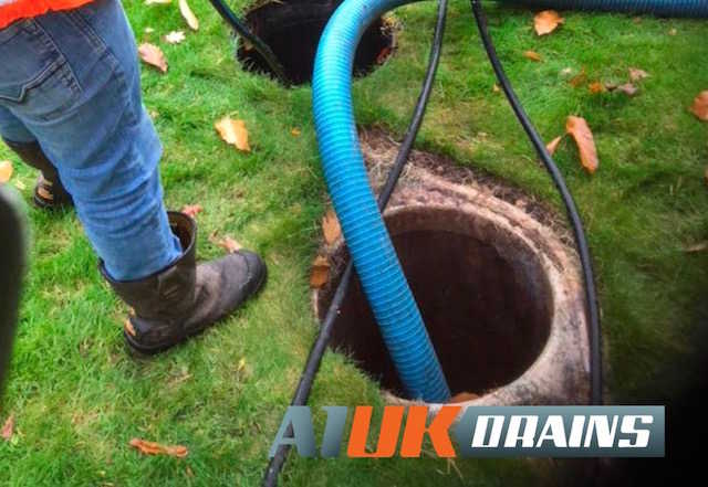 Septic tank emptying services by A1 Uk Drains of Wokingham