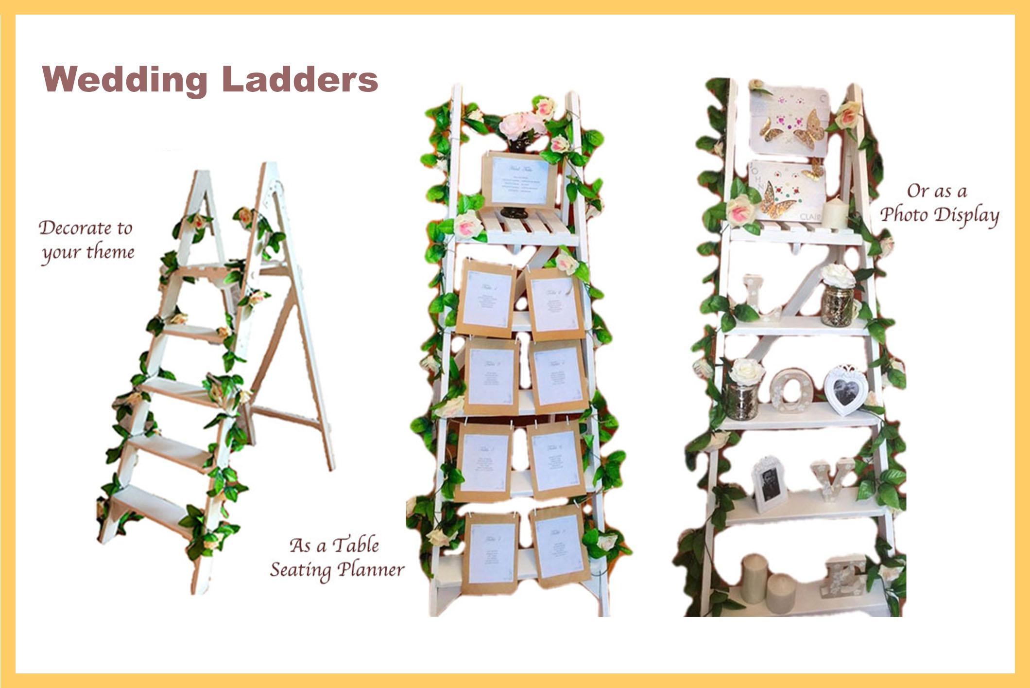 Wedding props - wedding laddersjpg