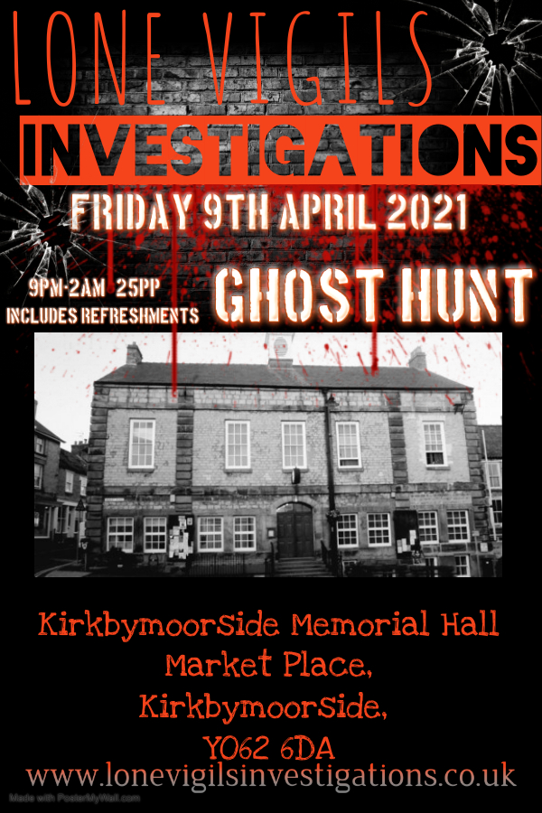 Kirkbymoorside Memorial Hall Friday 9th April 2021