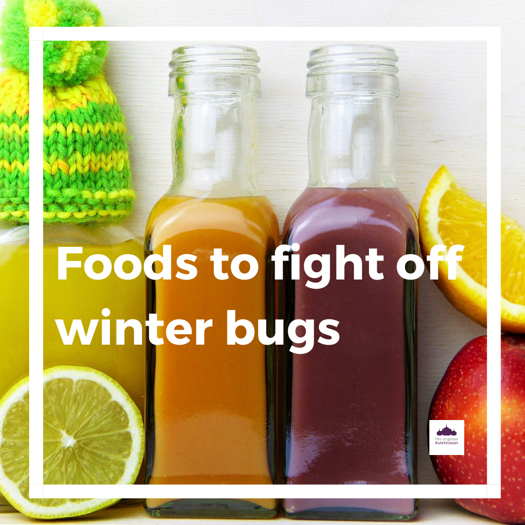 Foods to fight off winter bugs at work.
