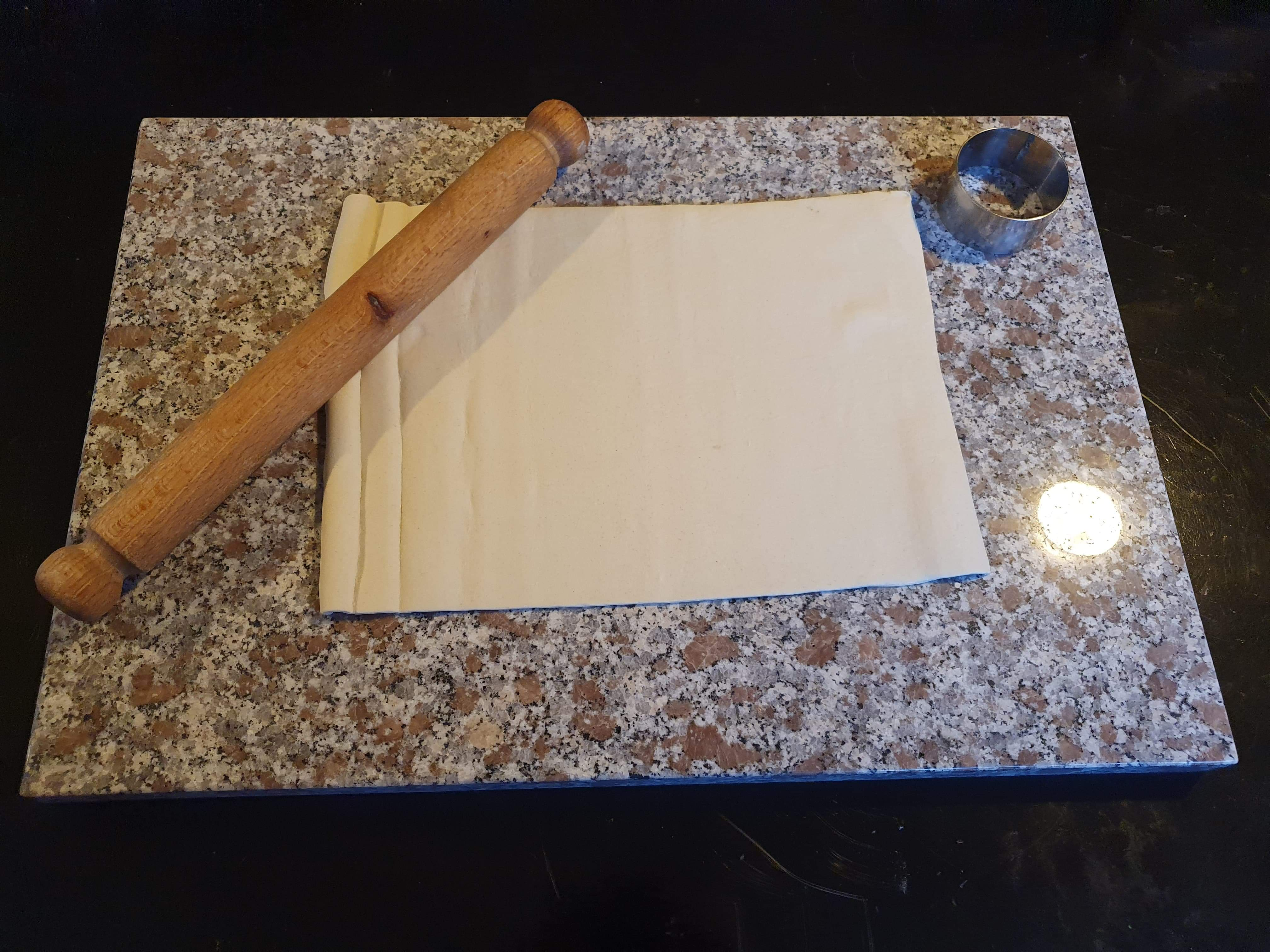 Makes making pastry so much easier with this granite pastry board