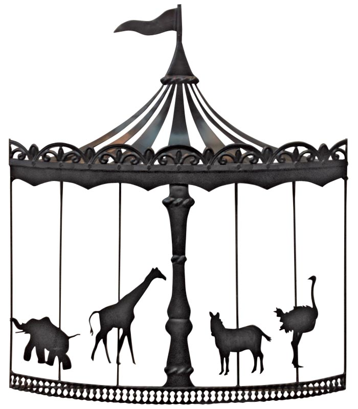 Metal Carousel wall art