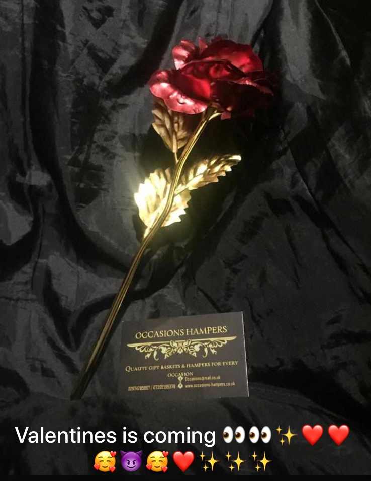 Valentines Gold Plated Red Rose