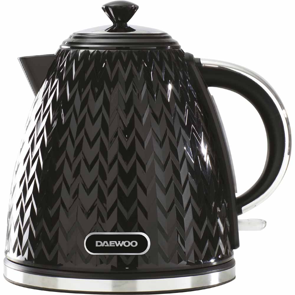 Daewoo Black 1.7L Argyle Kettle 3KW