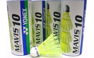 Yonex Mavis 10 Nylon Badminton Shuttles JAPAN - Qty 12 shuttle yellow